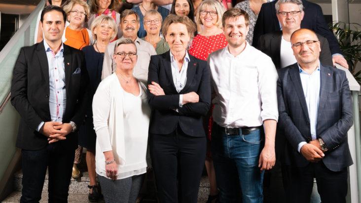 Gruppbild på S kommunkandidater 2018